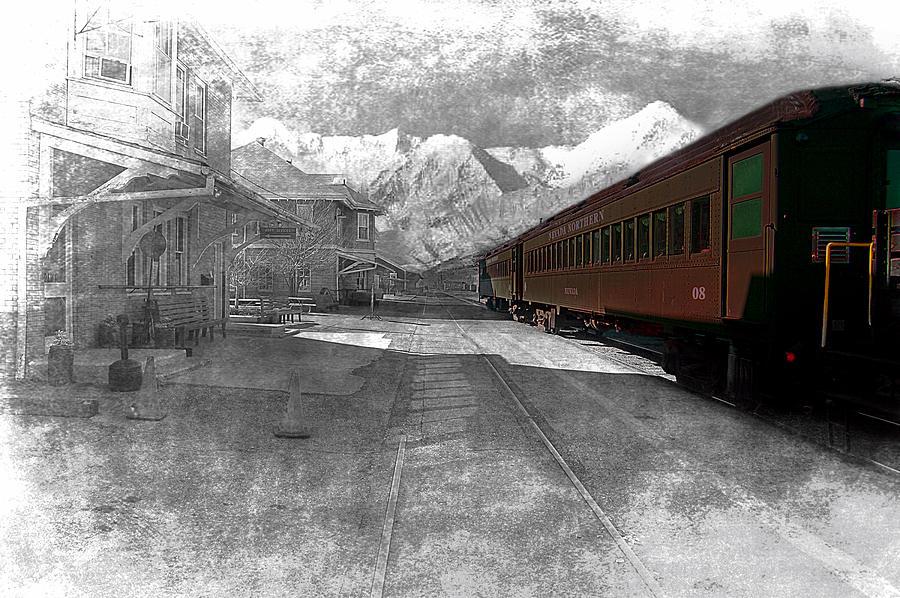 Train Photograph - Waiting For The Take Off by Gunter Nezhoda