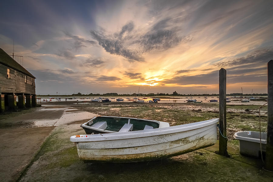 Sunset Photograph - Waiting For The Tide by Jacqui Collett