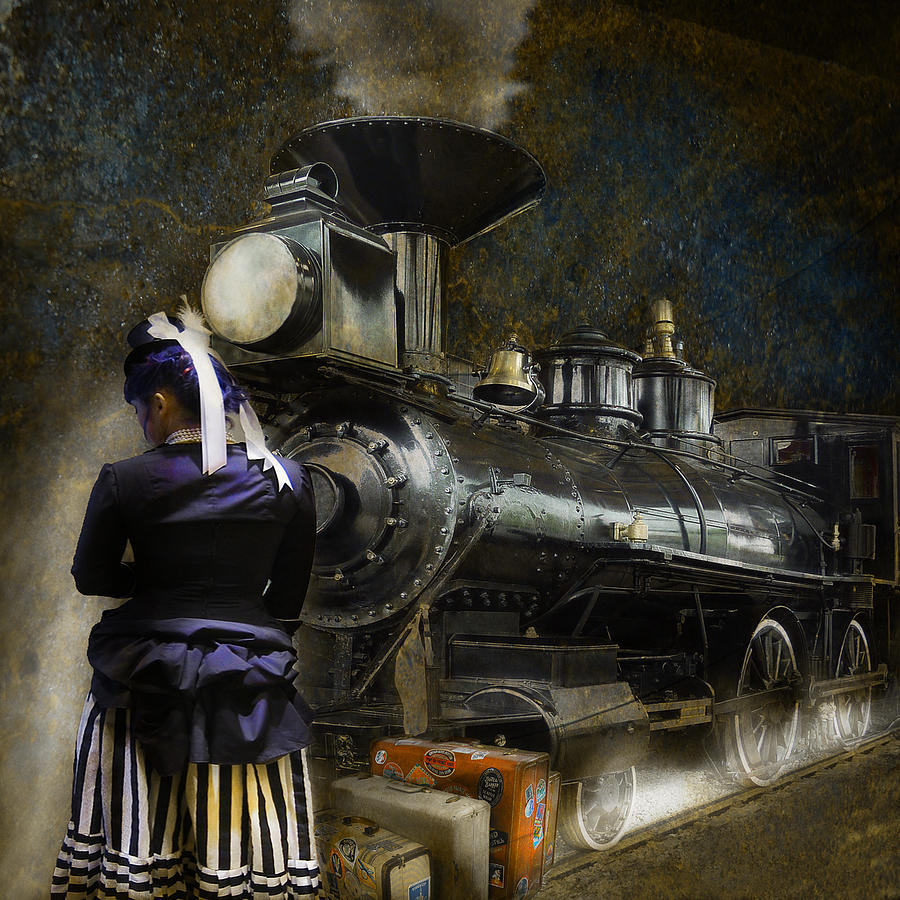 Waiting For The Train Steampunk graph by Jeff Burgess