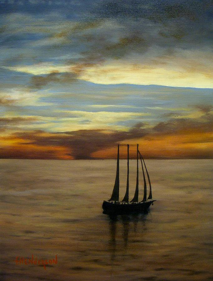 Seascape Painting - Waiting For The Wind by Francine Henderson