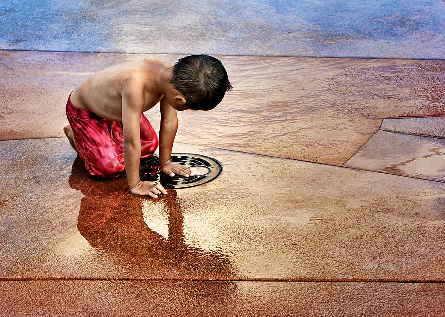 Child Photograph - Waiting For Water by Nikolyn McDonald