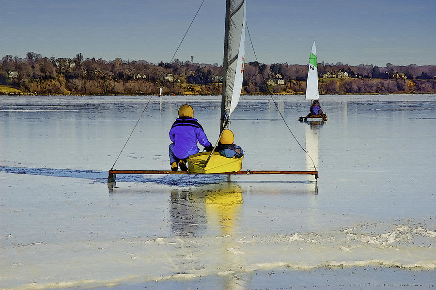 Iceboat Photograph - Waiting For Wind by Gary Slawsky