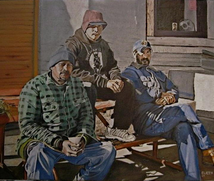 Migratory Workers Painting - Waiting For Work by Patricio Lazen