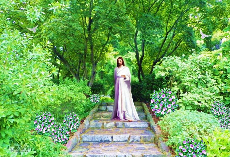 Jesus Painting - Waiting For You by Susanna Katherine