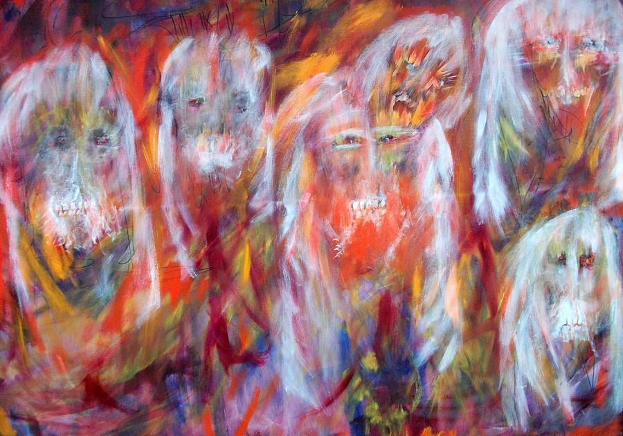 Ghosts Painting - Waiting Ghosts by Randall Ciotti