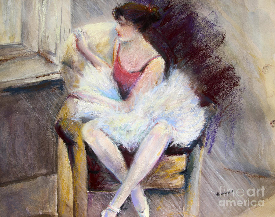Ballerina Pastel - Waiting by Joyce A Guariglia