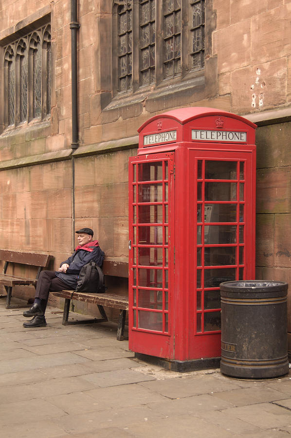 Telephone Booth Photograph - Waiting On A Call by Mike McGlothlen