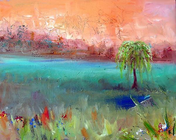 Abstract Painting - Waiting On My God by Dawn Gray Moraga