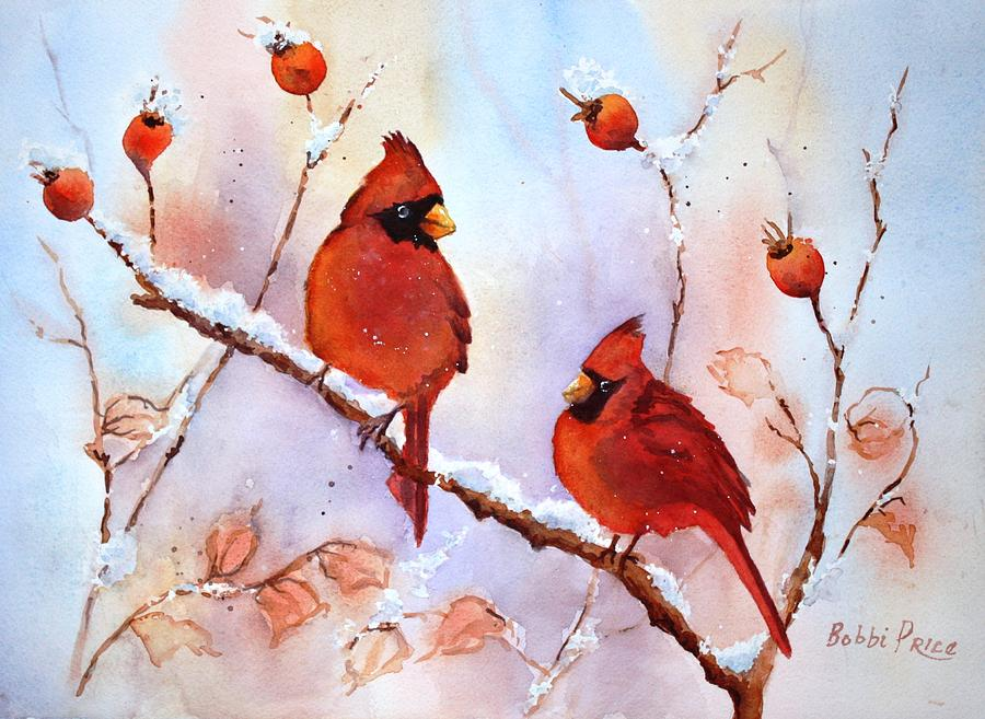 Watercolors Painting - Waiting On The Girls by Bobbi Price