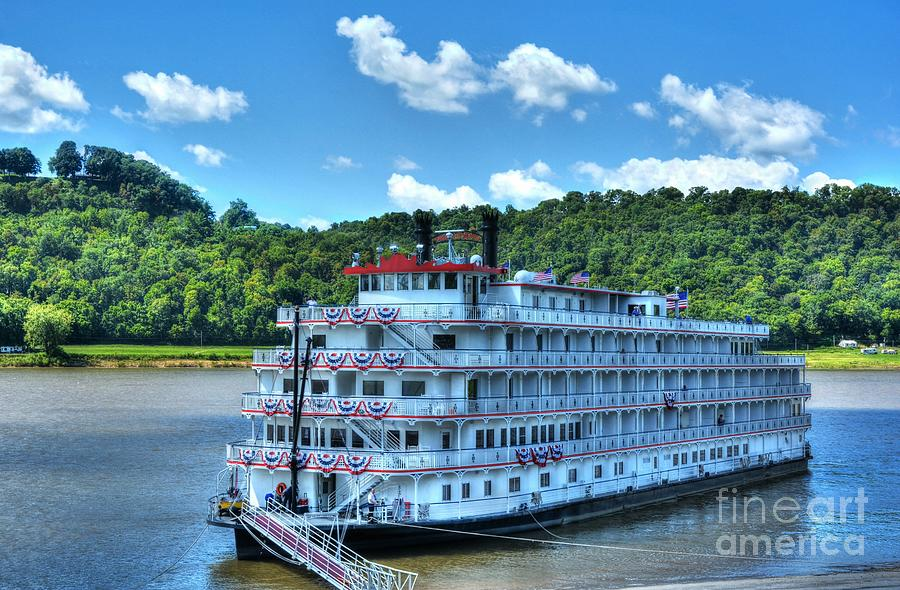 Riverboats Photograph - Waiting On The Levee by Mel Steinhauer