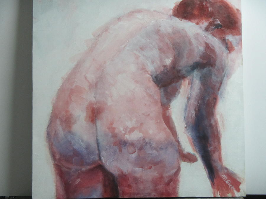 Female Nudes Painting - Waiting To Bathe by Marilyn Greenway