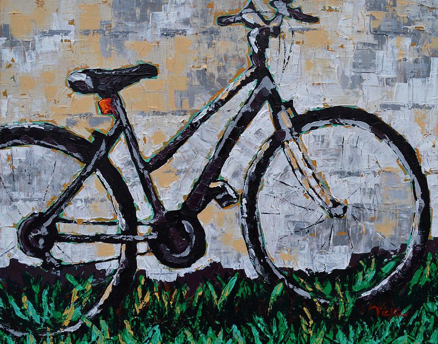 Bike Painting - Waiting by Vickie Warner