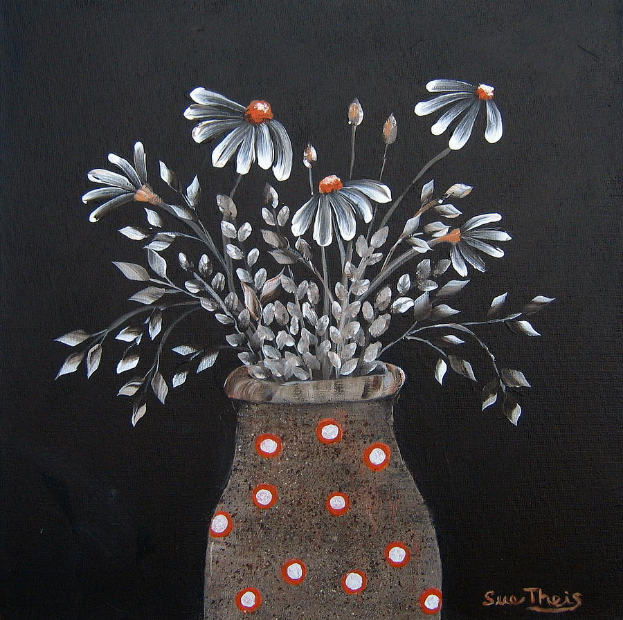 Flowers Painting - Wake Up And See The Flowers by Suzanne Theis