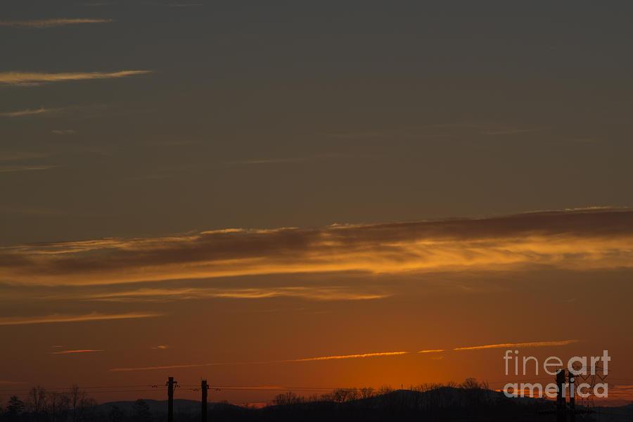 Yellow Sunrise Photograph - Wake Up by Michael Waters