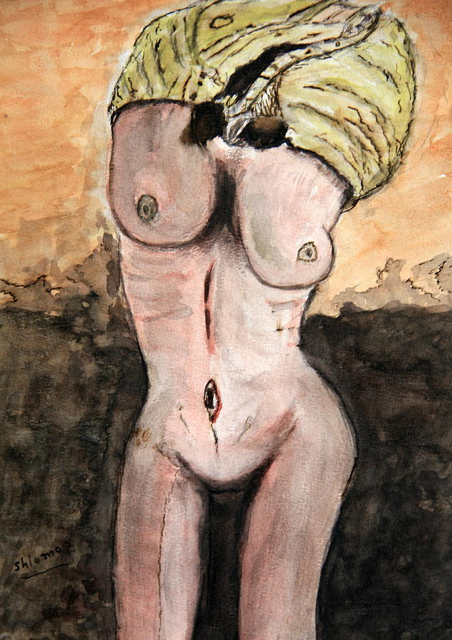 Nude Framed Prints Painting - Wake Up..... by Shlomo Zangilevitch