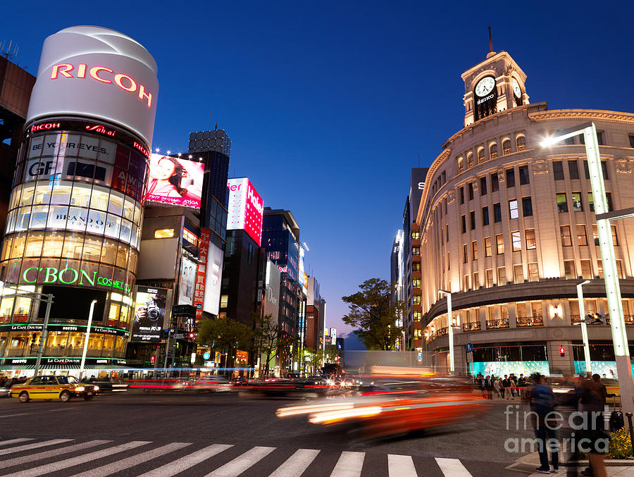 Wako Department Store In Ginza Tokyo Japan Photograph by Oleksiy Maksymenko