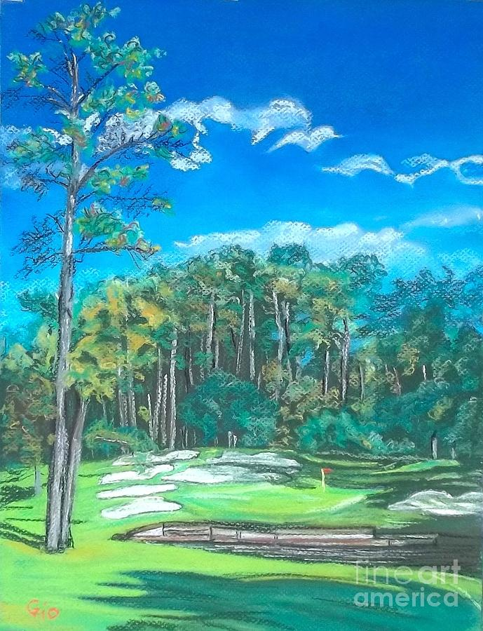 Golf Painting - Walden On Lake Conroe Hole 8 by Frank Giordano