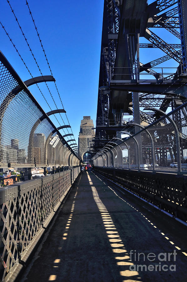 Walk Across Sydney Harbour Bridge Photograph - Walk Across Sydney Harbour Bridge by Kaye Menner