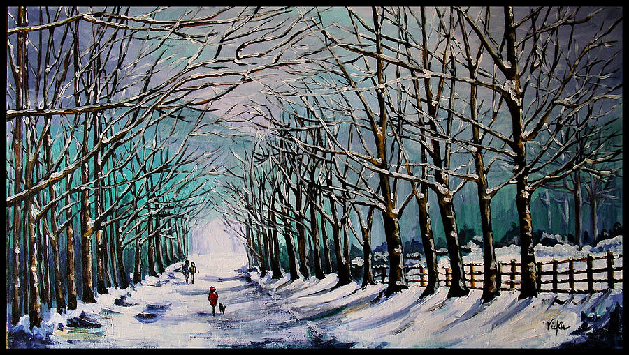 Winter Painting - Walk Among The Trees by Vickie Warner