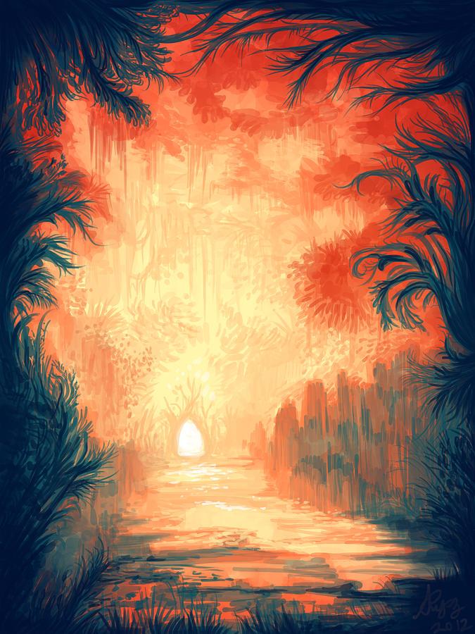 Walk Away Digital Art by Illustrations By Annemarie Rysz