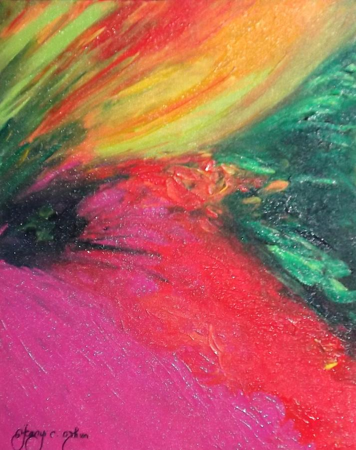 Abstract Painting - Walk Into Bliss by Ifeanyi C Oshun