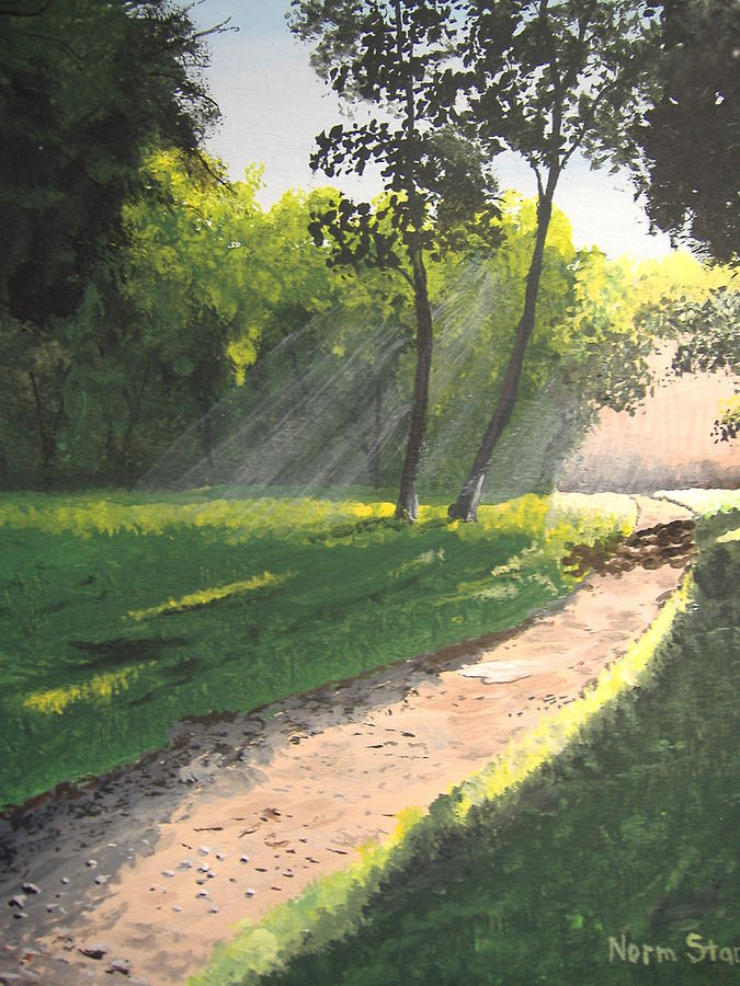 Sunlight Painting - Walk Into The Light by Norm Starks