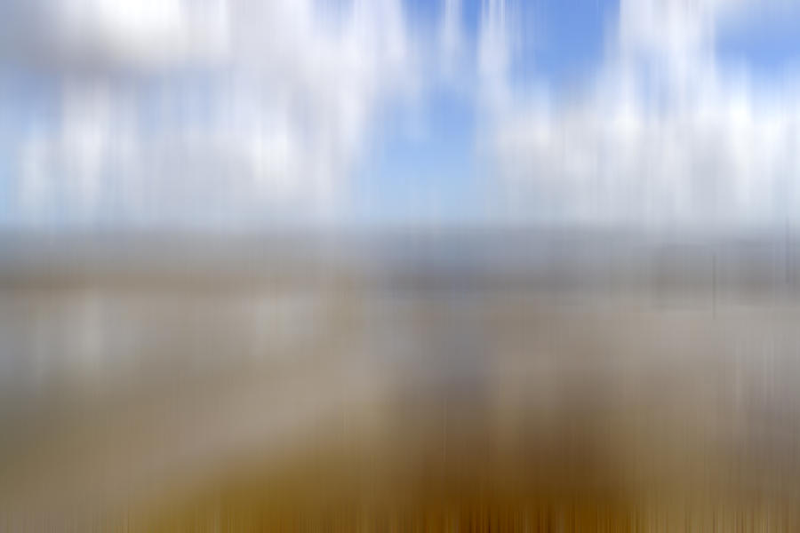 Abstract Photograph - Walk On The Beach by Kevin Round