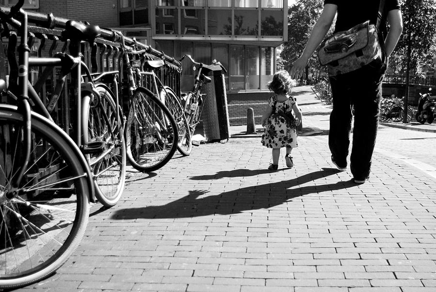 Street Photography Photograph - Walk Safely Little Girl  by Steppeland -