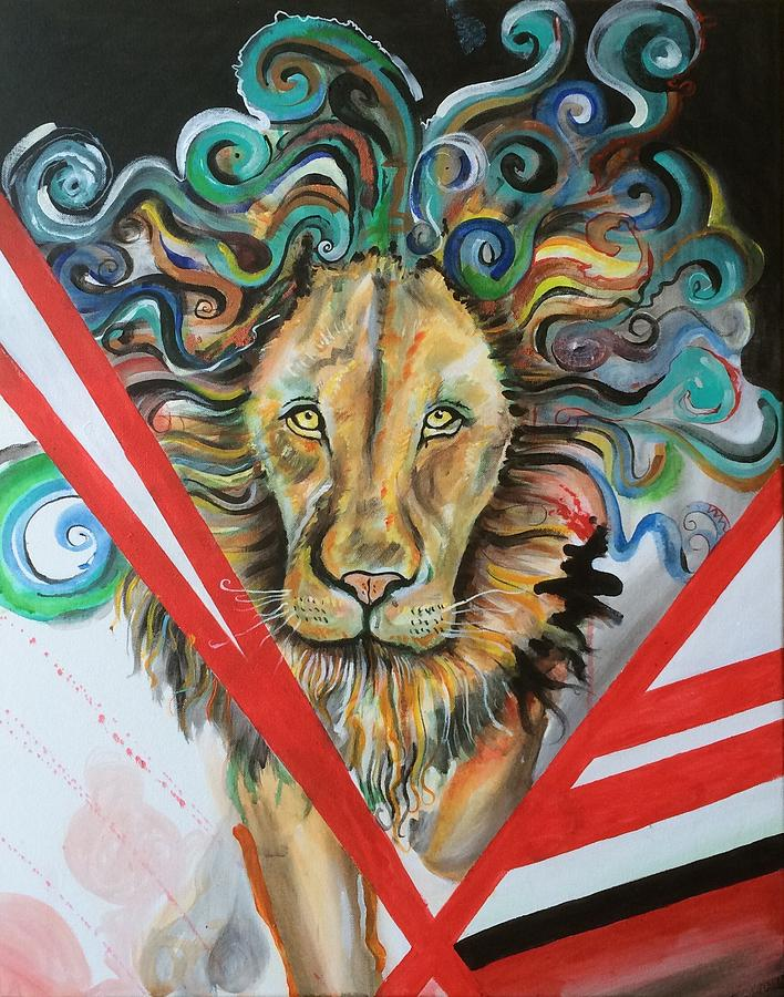 Lion Painting - Walk Through The Wild Side by Erik Franco