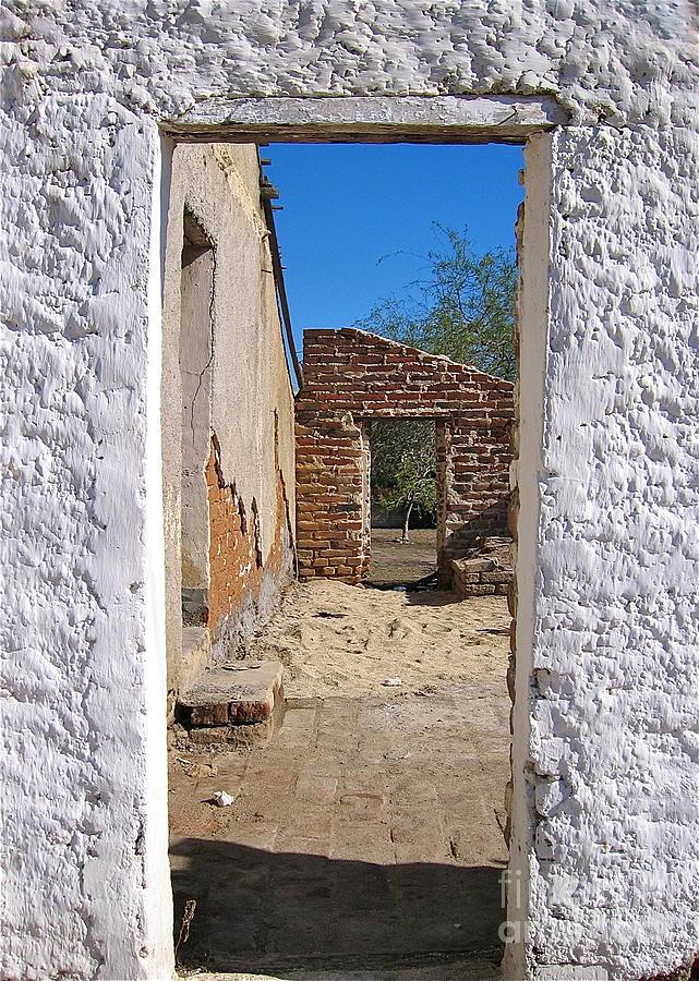 Architecture Photograph - Walk Through Time - Todos Santos by Amy Fearn