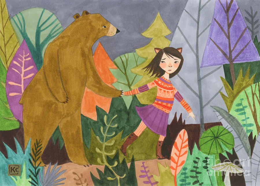 Bear Painting - Walk With Me by Kate Cosgrove