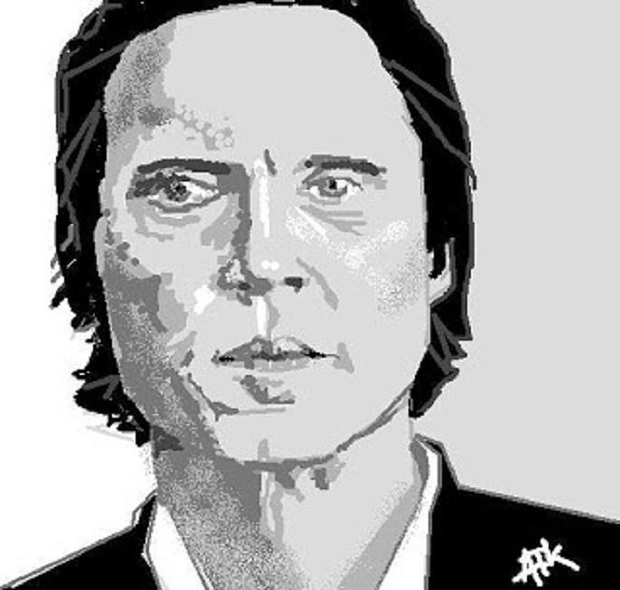 Christopher Walken Digital Art - Walken by Ann Kipp