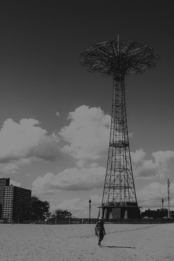 Coney Island Photograph - Walking Alone by Edward Khutoretskiy