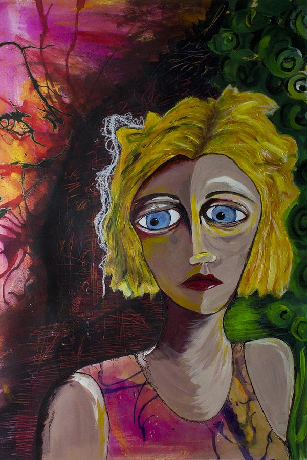 Woman Painting - Walking Away by Bronwen Heilman