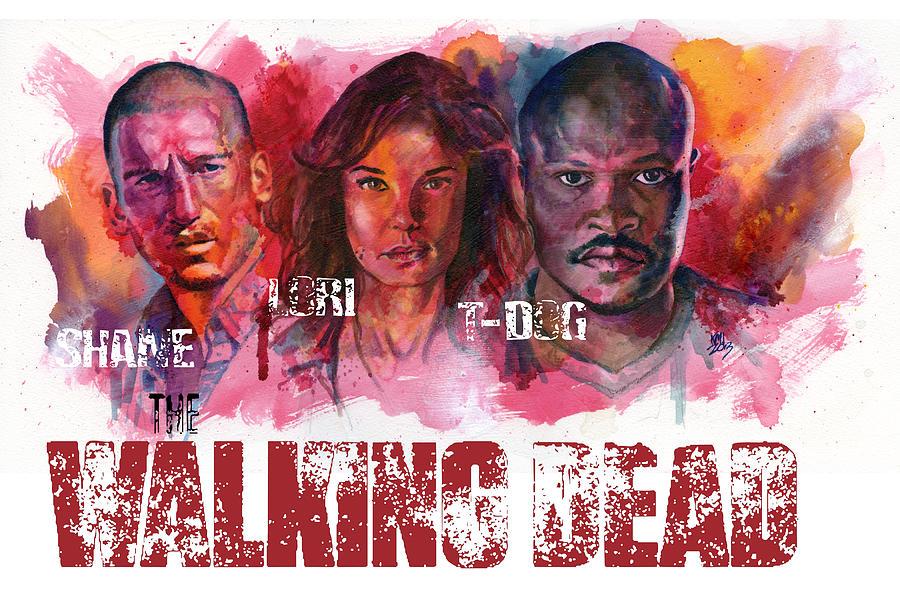 Walking Dead Painting - Walking Dead Dead by Ken Meyer