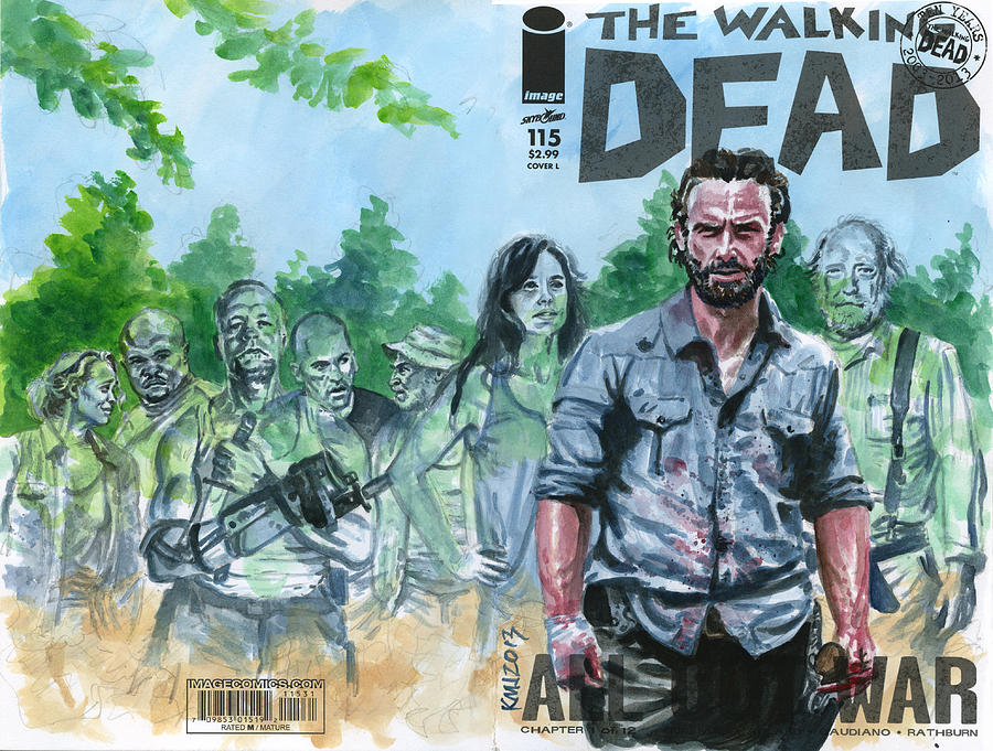 Walking Dead Painting - Walking Dead Ghosts by Ken Meyer jr