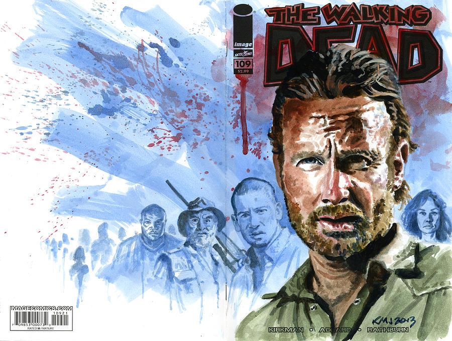 Walking Dead Painting - Walking Dead by Ken Meyer jr