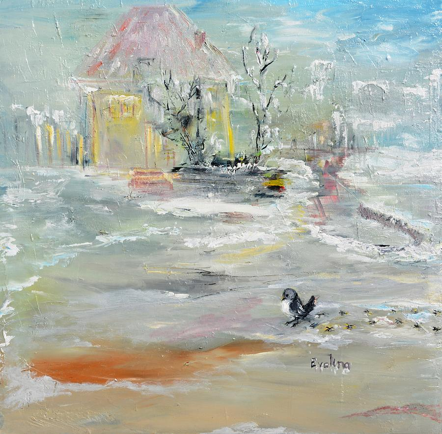 Winter Painting - Walking  by Evelina Popilian