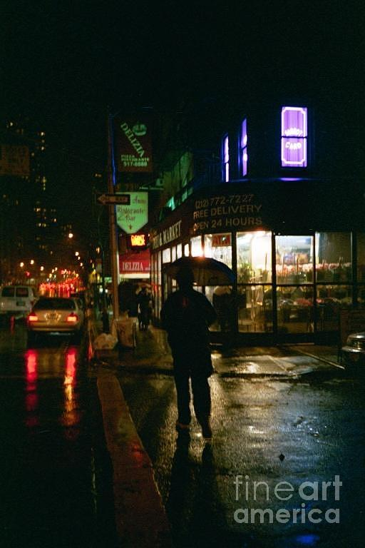 New York Photograph - Walking Home In The Rain by Miriam Danar