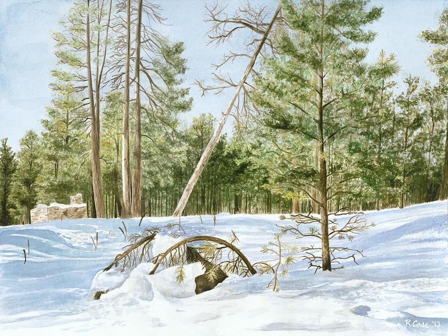 Landscape Painting - Walking in Flagstaff by Rebecca Case