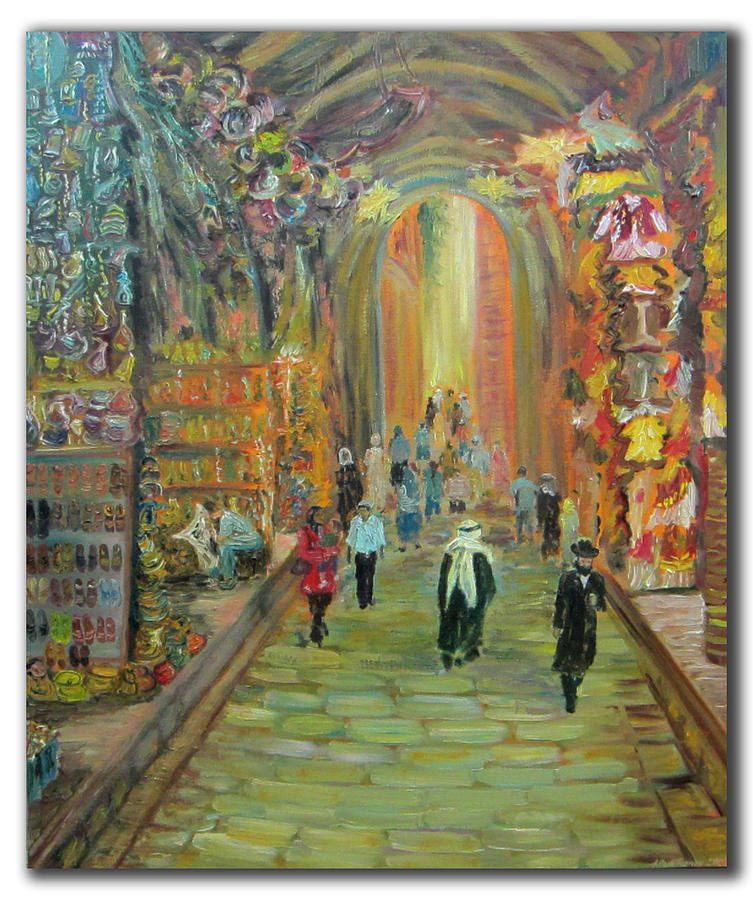 City Painting - Walking Jerusalem  by Alexander Bukhanov