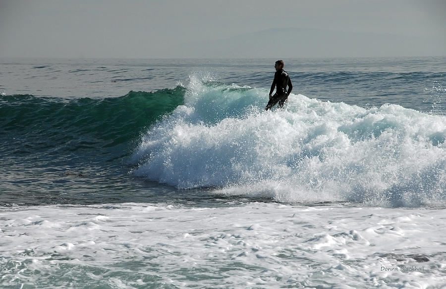 Surf Photograph - Walking On Water by Donna Blackhall