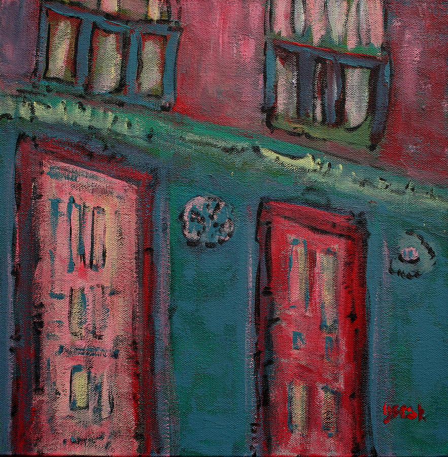 Cityscapes Painting - Walking by Oscar Penalber