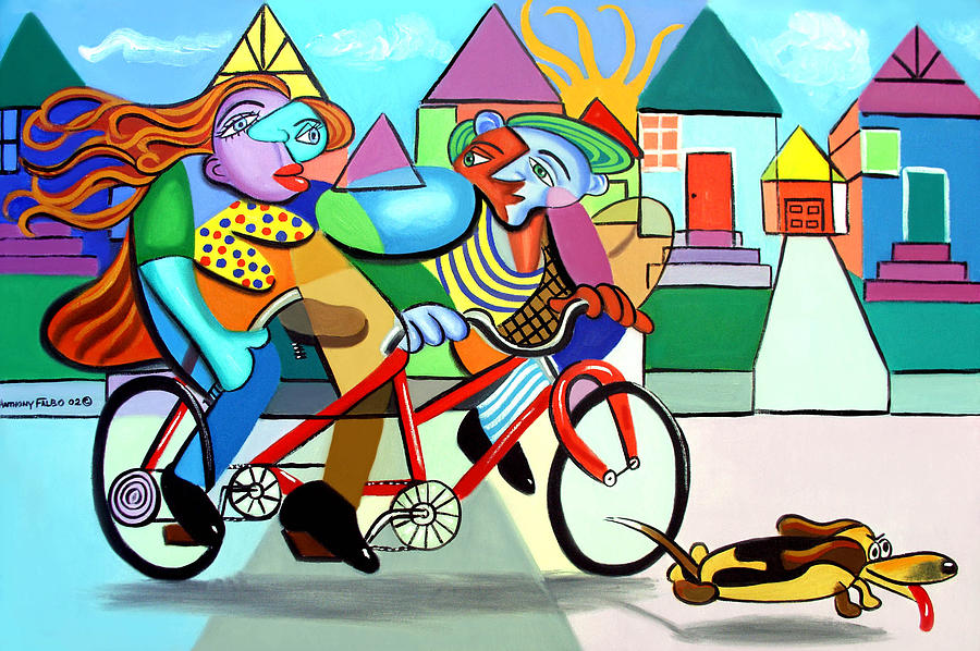 Walking The Dog Painting - Walking The Dog by Anthony Falbo