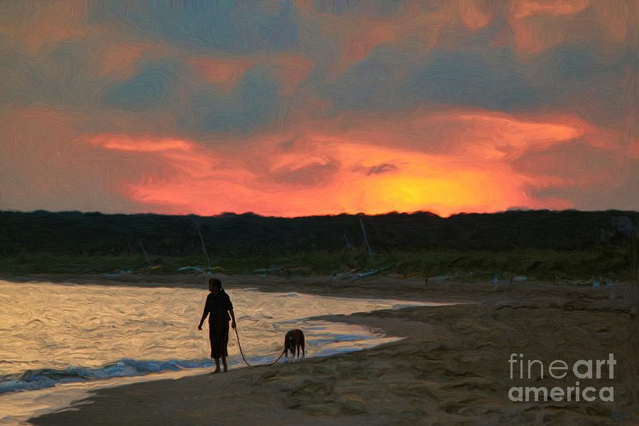 Walking The Dog Photograph - Walking The Dog by Jeff Breiman