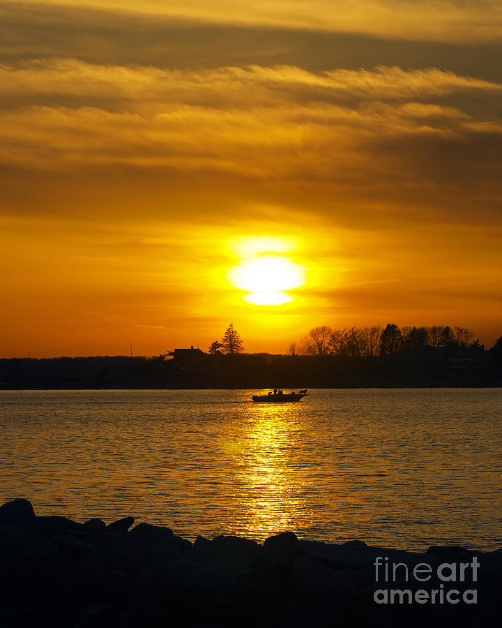Sunset Photograph - Walking The Dog by Joe Geraci