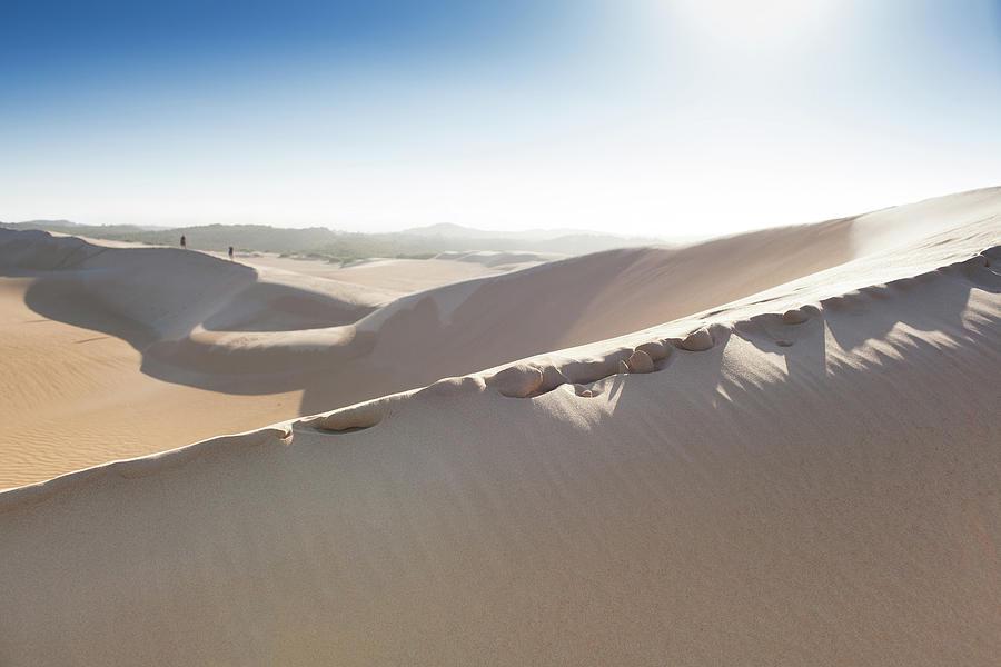 Walking Through Sand Dunes - Australia Photograph by Robert Lang Photography