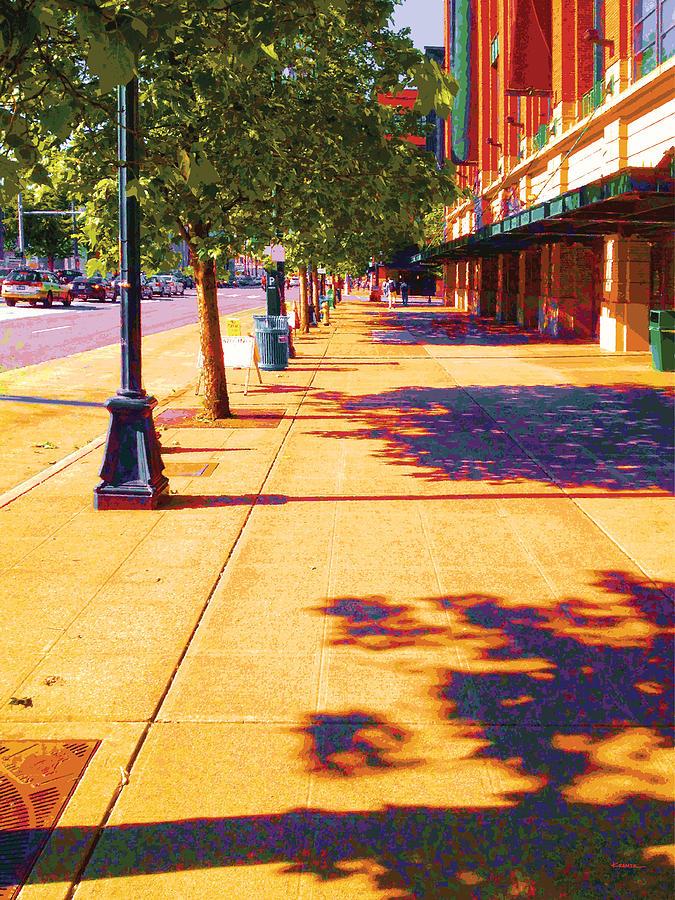 Abstract Digital Art - Walking To King Street Station Five-o-nine Pm by James Kramer