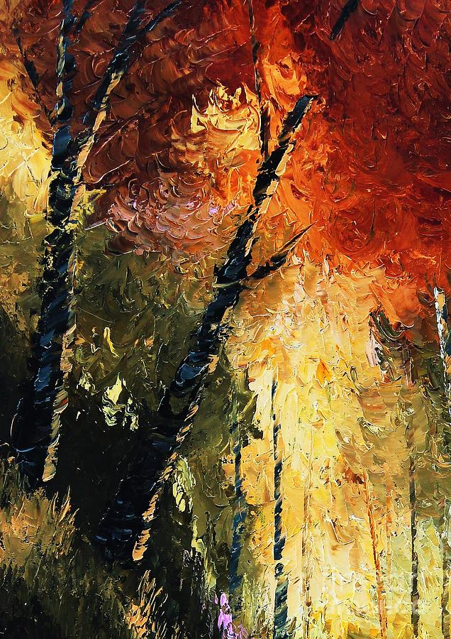 Trees Painting - Walking With A Dream by Steven Lebron Langston