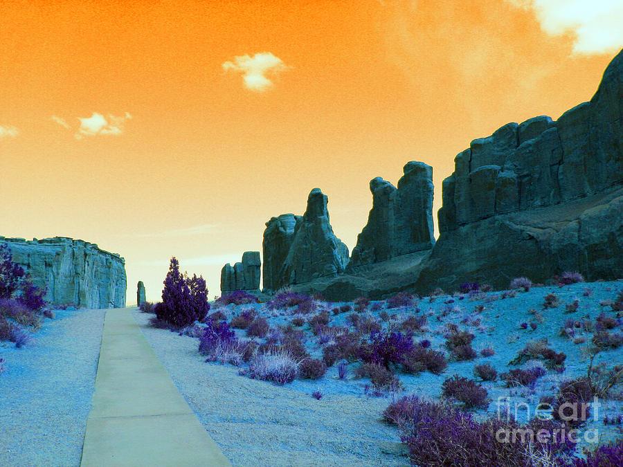 Orange Photograph - Walkway To Provenance by Patricia Januszkiewicz